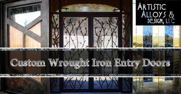 Custom Wrought Iron Exterior Doors Scottsdale