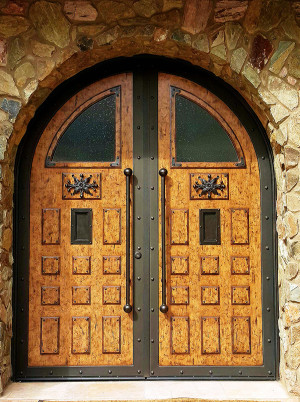 Rustic-double-doors