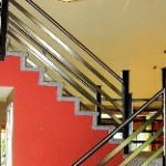 Steel-and-stainless-railing metal stair railings images