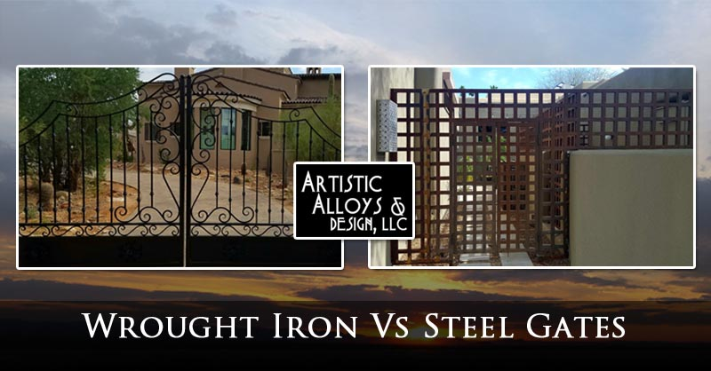 Wrought Iron Vs Steel Gates What S The Difference
