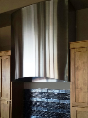 Curved Stainless Hood Artistic Alloys