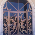 Large iron -sculpted-doors scottsdale