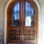 custom wood and steel entry door scottsdale az
