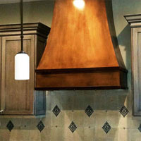 Large Copper Custom Range Hood Scottsdale AZ