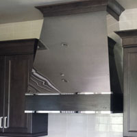 Polished Steel Custom Range Hood Scottsdale AZ