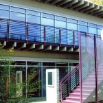 Commercial Pink Staircase Railing
