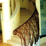 Curved Octillo Staircase Railing