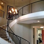 Curved Staircase Railing Mesa AZ