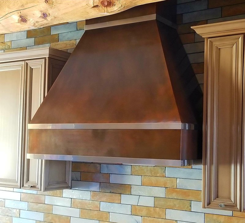 Copper Oven Hood Stainless Trim (3)