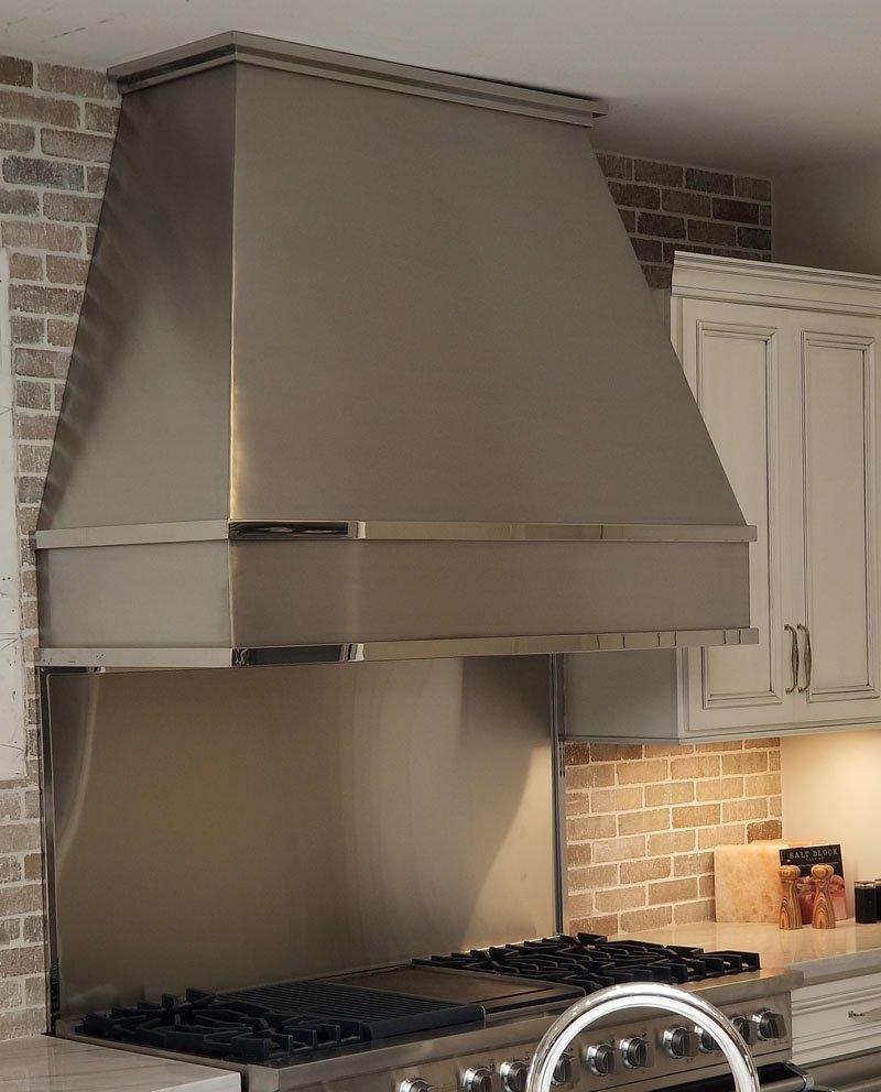 Beveled Stainless Oven Hood (66)