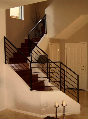 Black Metal Stair Railing (01)