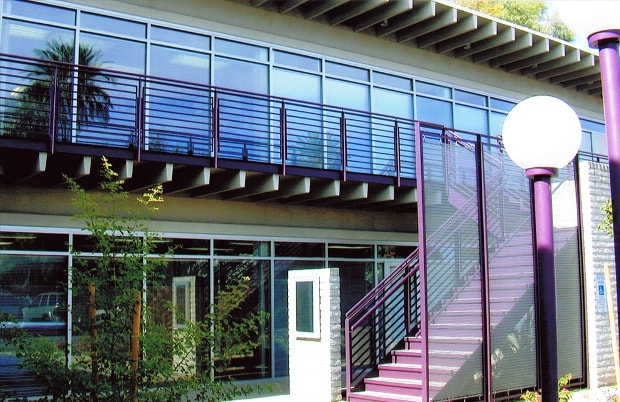 Fuchsia Metal Stair Railing (02)
