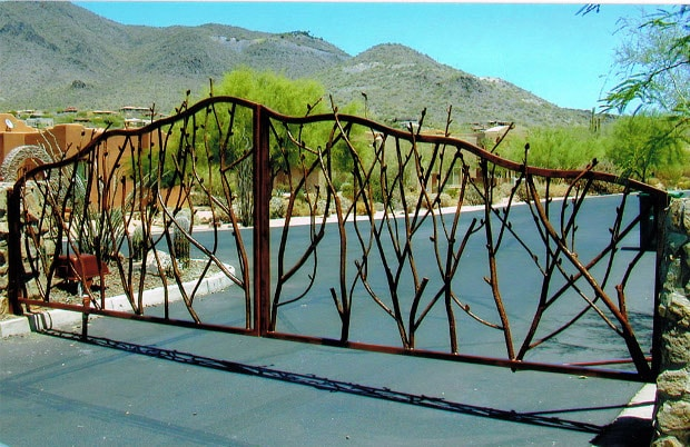 Vine Double Wrought Iron Gate (05)