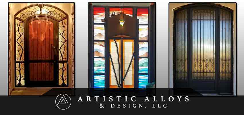 Custom Wrought Iron Entry Doors 1