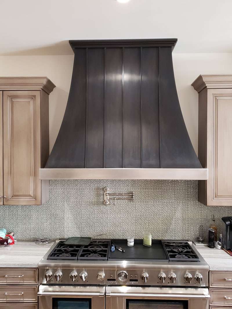 Chemical black stainless range hood 75