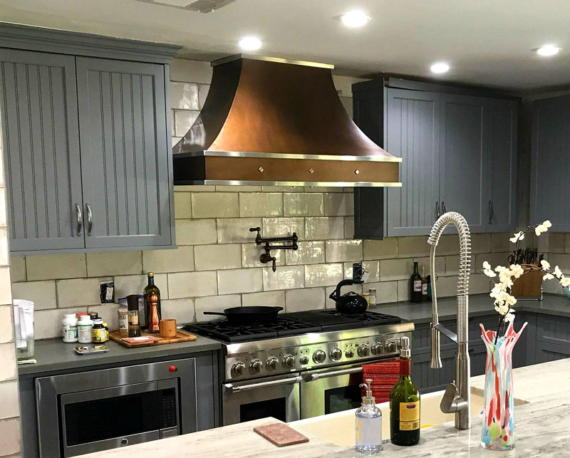 Contemporary Copper Range Hood (79)