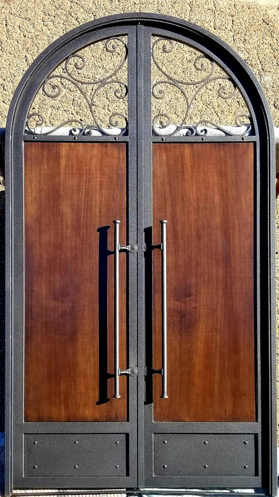 12ft Custom Arched Entry Door (24)