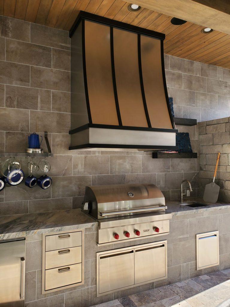 BBQ stainless steel range hood (99)
