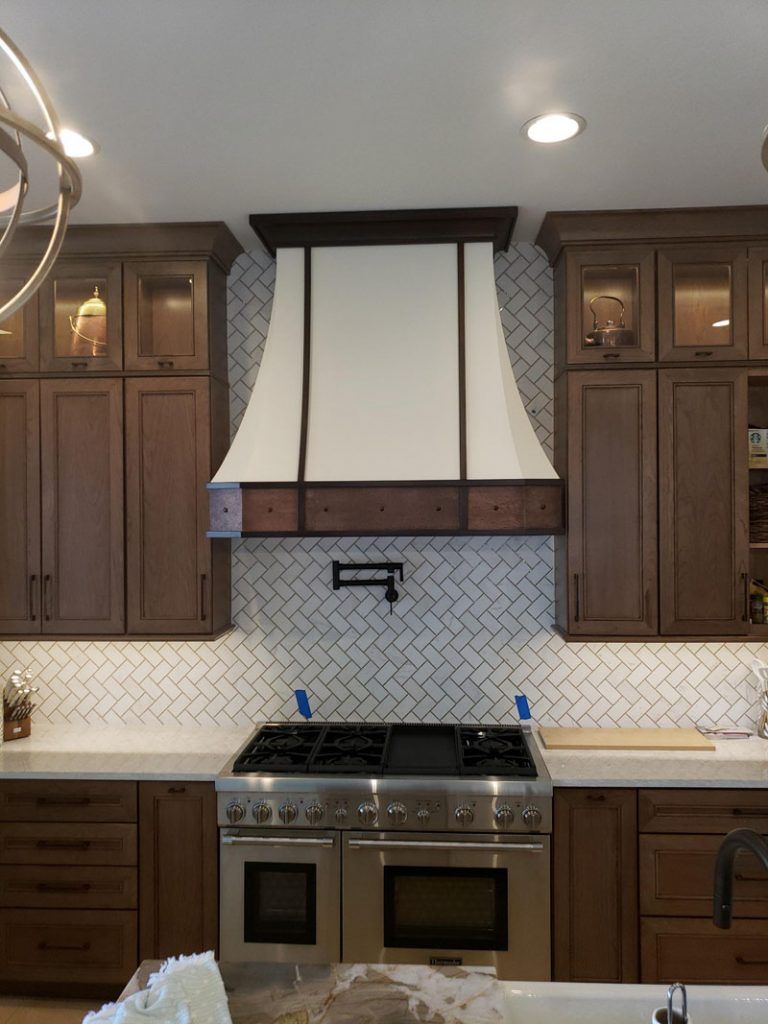 White and copper texture range hood (107)